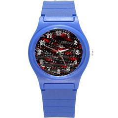 Bed eyesight Round Plastic Sport Watch (S)