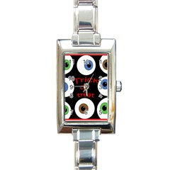 Trick or treat  Rectangle Italian Charm Watch