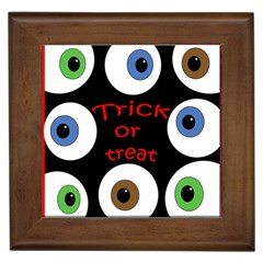 Trick or treat  Framed Tiles