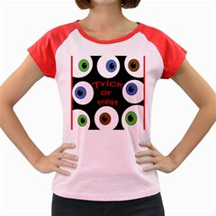 Trick or treat  Women s Cap Sleeve T-Shirt