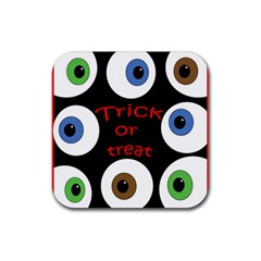 Trick or treat  Rubber Square Coaster (4 pack)