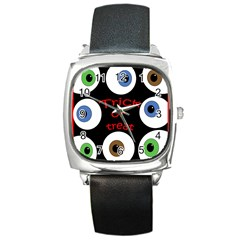 Trick or treat  Square Metal Watch