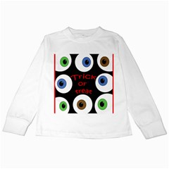 Trick or treat  Kids Long Sleeve T-Shirts