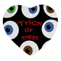 Trick or treat  Heart Ornament (2 Sides)