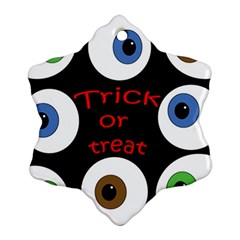 Trick or treat  Snowflake Ornament (2-Side)
