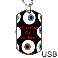 Trick or treat  Dog Tag USB Flash (Two Sides)