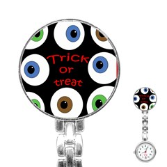 Trick or treat  Stainless Steel Nurses Watch