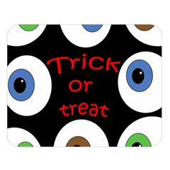 Trick or treat  Double Sided Flano Blanket (Large)