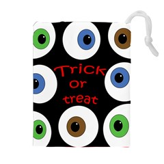 Trick or treat  Drawstring Pouches (Extra Large)