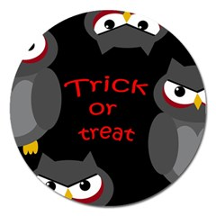 Trick or treat - owls Magnet 5  (Round)