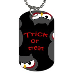 Trick or treat - owls Dog Tag (Two Sides)