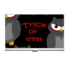Trick or treat - owls Business Card Holders