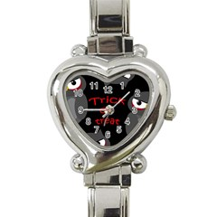 Trick or treat - owls Heart Italian Charm Watch