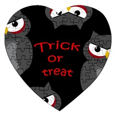 Trick or treat - owls Jigsaw Puzzle (Heart)