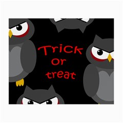 Trick or treat - owls Small Glasses Cloth