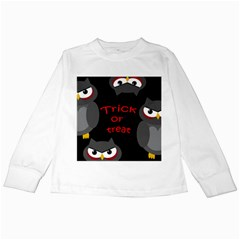 Trick or treat - owls Kids Long Sleeve T-Shirts