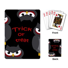 Trick or treat - owls Playing Card