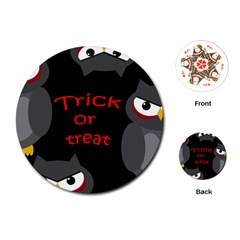 Trick or treat - owls Playing Cards (Round)