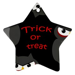 Trick or treat - owls Star Ornament (Two Sides)
