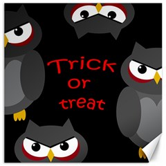 Trick or treat - owls Canvas 16  x 16