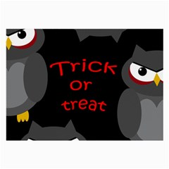 Trick or treat - owls Large Glasses Cloth (2-Side)