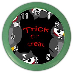 Trick or treat - owls Color Wall Clocks