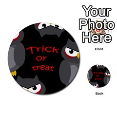 Trick or treat - owls Multi-purpose Cards (Round)