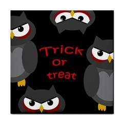 Trick or treat - owls Face Towel