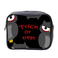 Trick or treat - owls Mini Toiletries Bag 2-Side