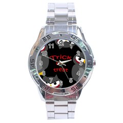 Trick or treat - owls Stainless Steel Analogue Watch