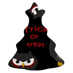 Trick or treat - owls Christmas Tree Ornament (2 Sides)