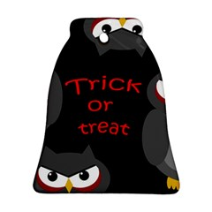 Trick or treat - owls Bell Ornament (2 Sides)