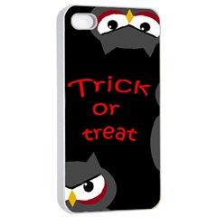 Trick or treat - owls Apple iPhone 4/4s Seamless Case (White)