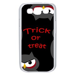 Trick or treat - owls Samsung Galaxy S III Case (White)