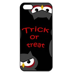 Trick or treat - owls Apple iPhone 5 Seamless Case (Black)