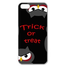 Trick or treat - owls Apple Seamless iPhone 5 Case (Clear)