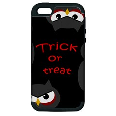 Trick or treat - owls Apple iPhone 5 Hardshell Case (PC+Silicone)