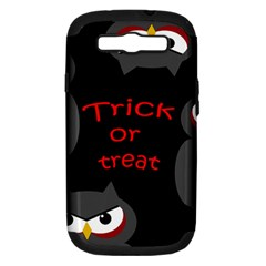 Trick or treat - owls Samsung Galaxy S III Hardshell Case (PC+Silicone)