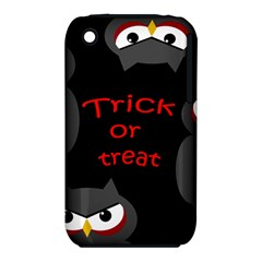 Trick or treat - owls Apple iPhone 3G/3GS Hardshell Case (PC+Silicone)