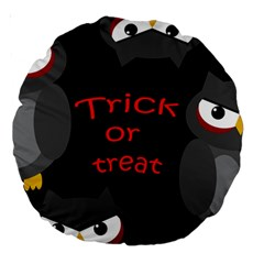 Trick or treat - owls Large 18  Premium Round Cushions