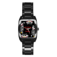 Trick or treat - owls Stainless Steel Barrel Watch