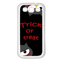 Trick or treat - owls Samsung Galaxy S3 Back Case (White)