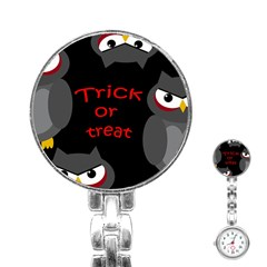 Trick or treat - owls Stainless Steel Nurses Watch