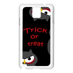 Trick or treat - owls Samsung Galaxy Note 3 N9005 Case (White)