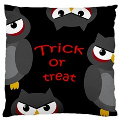 Trick or treat - owls Large Flano Cushion Case (Two Sides)