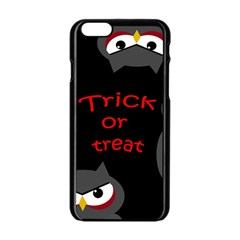 Trick or treat - owls Apple iPhone 6/6S Black Enamel Case