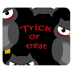 Trick or treat - owls Double Sided Flano Blanket (Small)