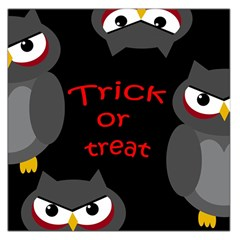 Trick or treat - owls Large Satin Scarf (Square)