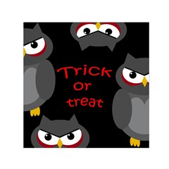 Trick or treat - owls Small Satin Scarf (Square)