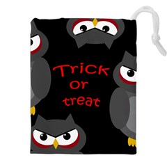 Trick or treat - owls Drawstring Pouches (XXL)